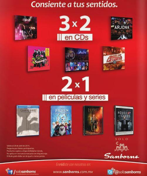 Sanborns: 2x1 en películas, 3x2 en discos, 30% de descuento en juguetes, iPad Air $7,365 y más