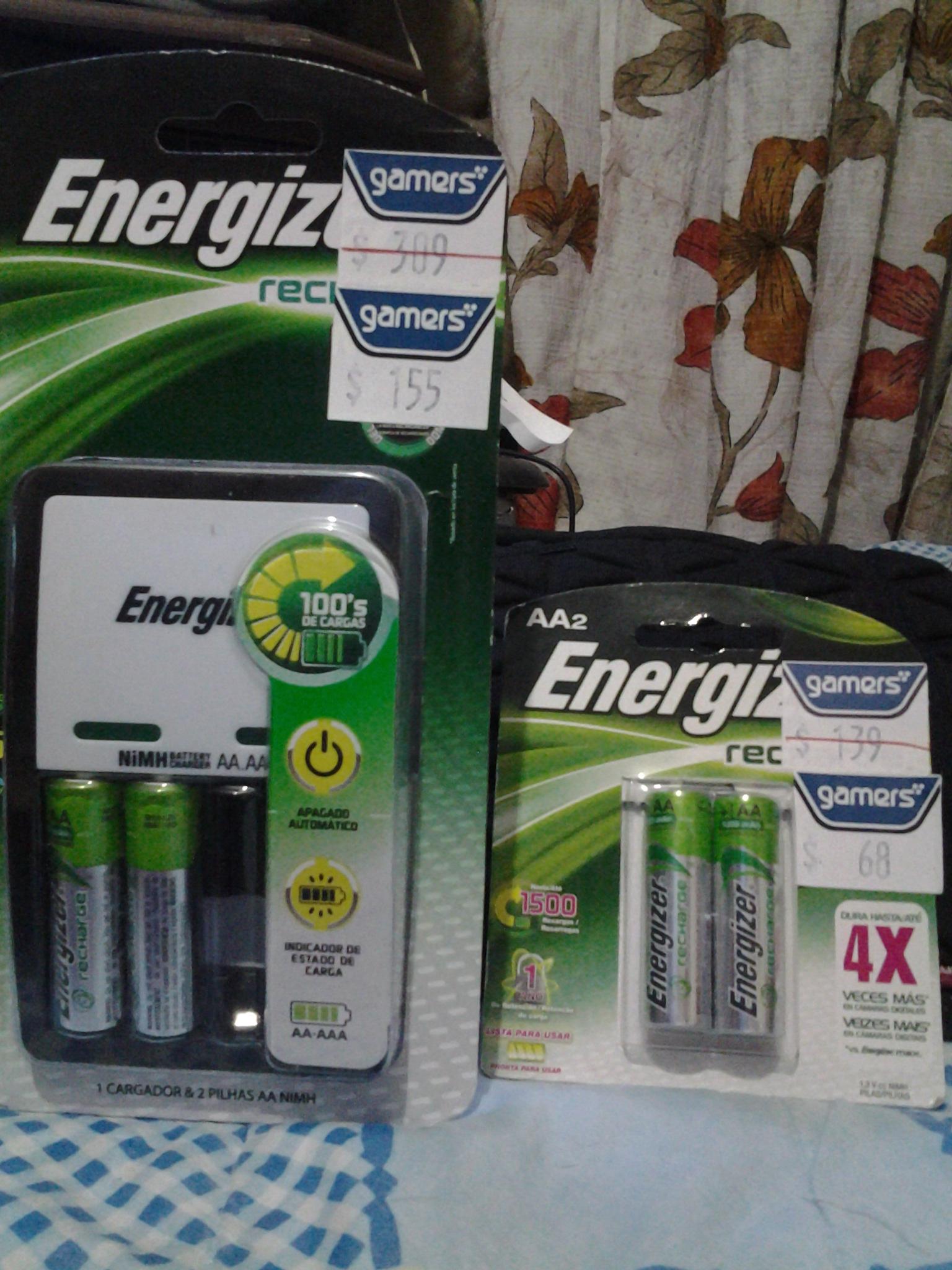 Gamers: Cargado de baterías Energizer con 2 pilas de $309 a $155