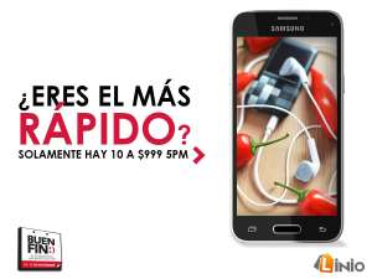 Buen Fin en Linio: 10 Samsung Galaxy S5 Mini a $999 (Hoy a las 5:00pm)