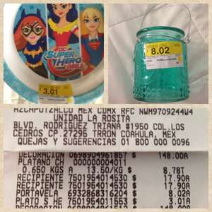 Walmart Triana: Plato Dc Super Hero Girls $3.01 y Portavela $8.02