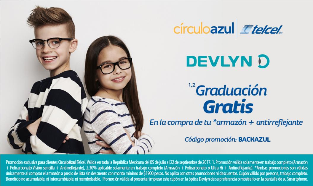 Devlyn: Graduación gratis + 10% en monedero con Círculo Azul de Telcel