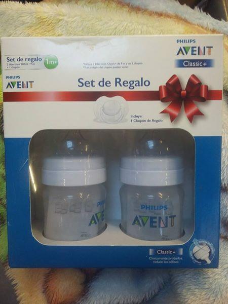 Bodega Aurrerá: Set de regalo marca Avent con 2 biberones + chupón de regalo