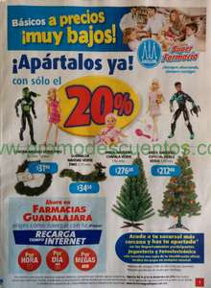 Folleto de ofertas de Farmacias Guadalajara del 16 al 30 de noviembre
