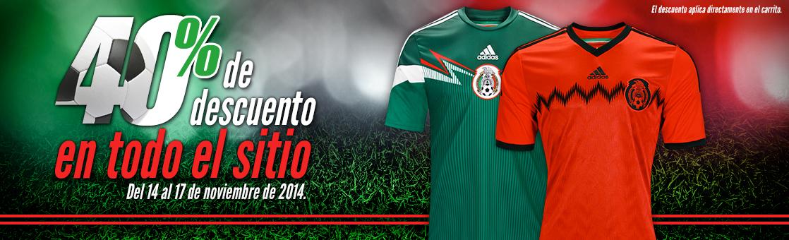 Tienda Miselección: 40% de descuento en Jersey Selección mexicana (y toda la tienda)