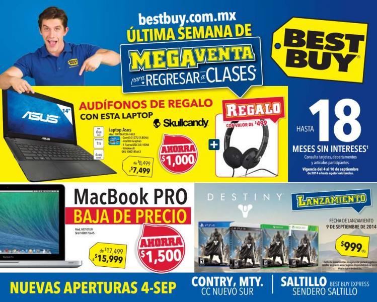Folleto de ofertas en Best Buy del 4 al 10 de septiembre