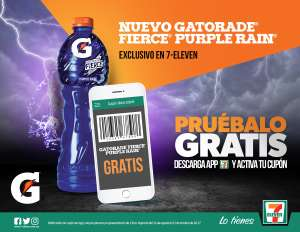 7-Eleven: Gatorade Fierce Purple Rain de 1L GRATIS
