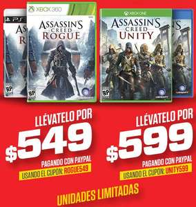 Ofertas del Buen Fin en Gamers: Assassin's Creed Unity $599, Rogue $549