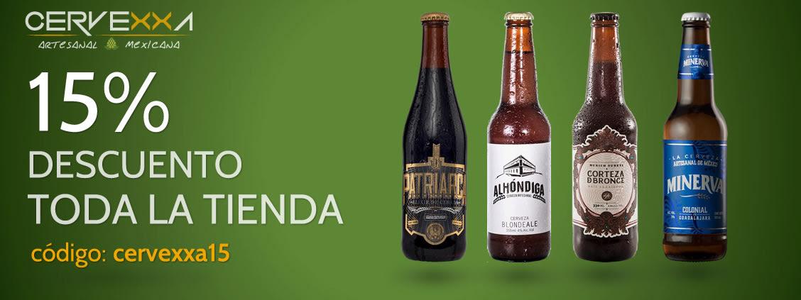 Cervexxa Artesanal Mexicana : cupòn de 15% de descuento en toda la tienda