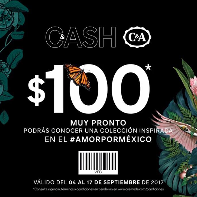 C&A: Cupón de $100 pesos en comprás de $700 ó más en toda la tienda