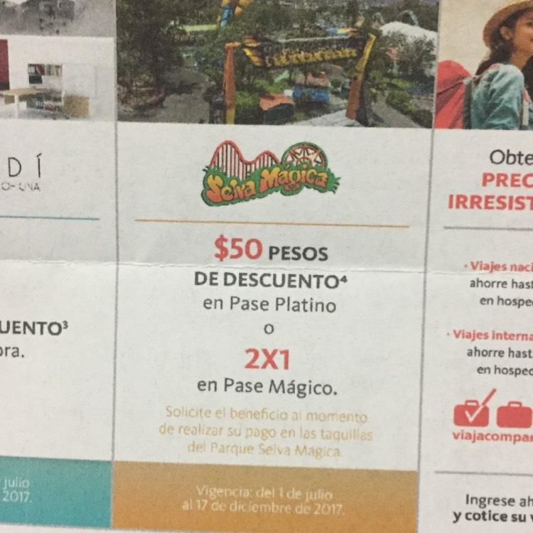 Selva Mágica Guadalajara: Descuento de $50 o 2x1 con Santander