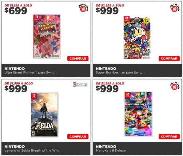 HEB: Varios juegos Nintendo Switch