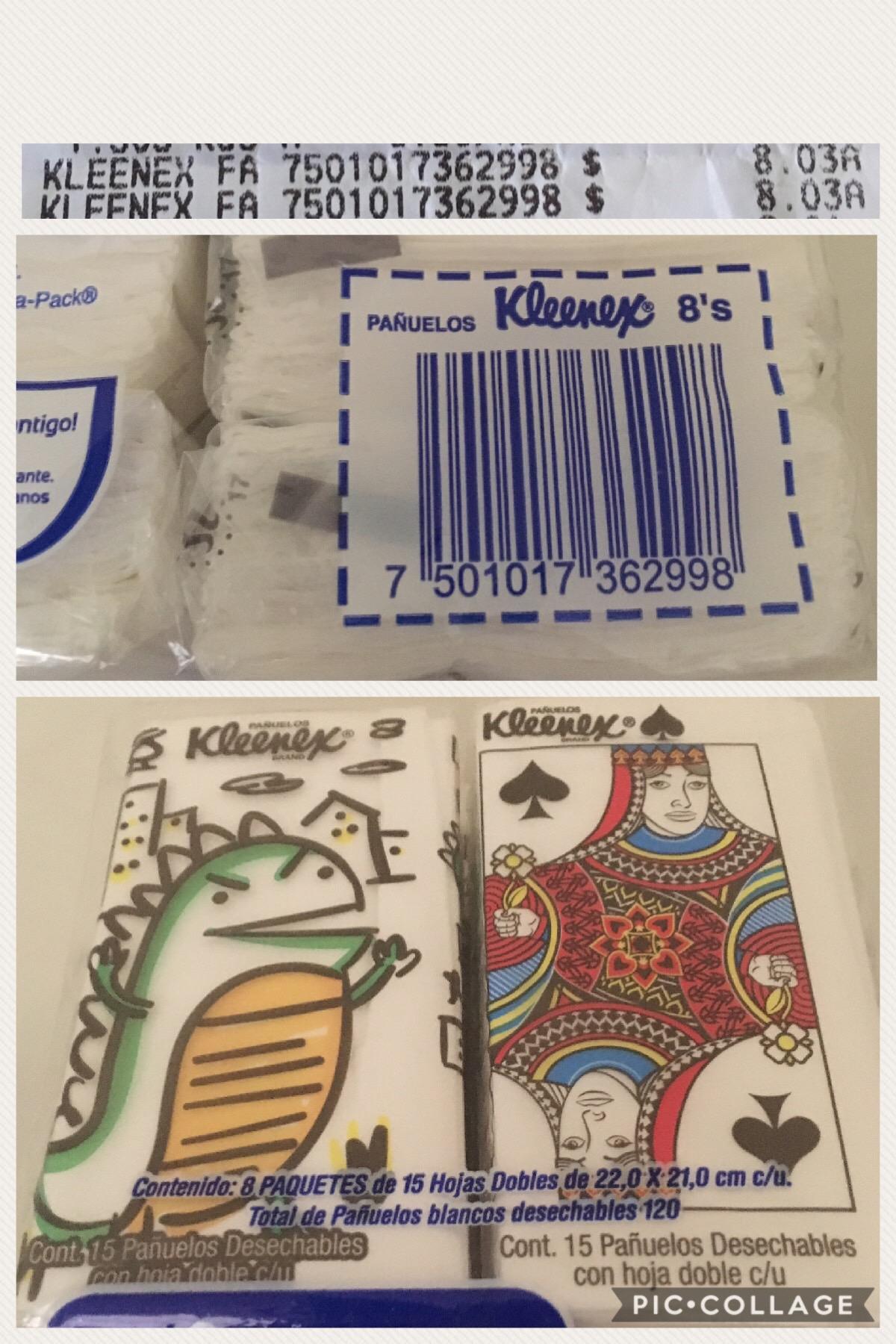 Walmart Metepec EDOMEX: paq. 8 pañuelos kleenex de bolsillo a $8.03