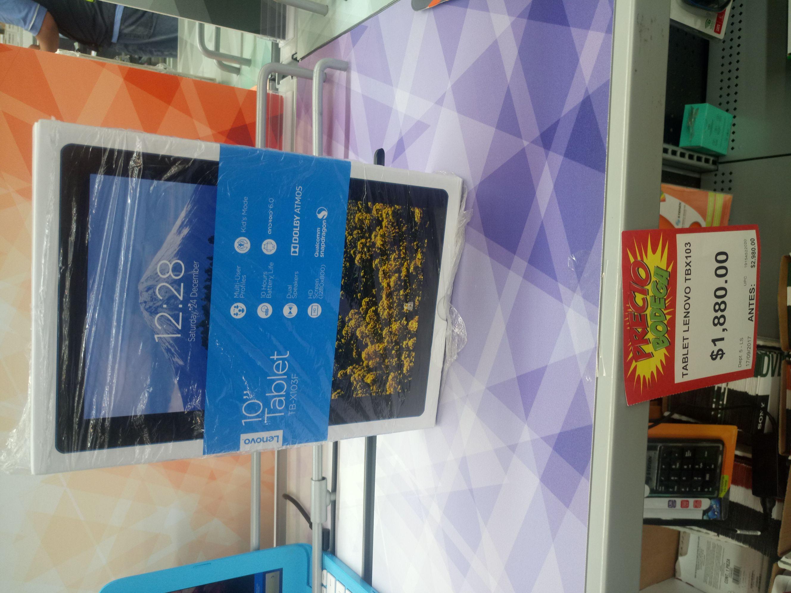 "Bodega Aurrerá: tablet Lenovo TBX103 10"" con mini promonovela"