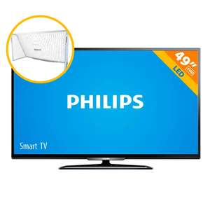 "Walmar paquete Philips Smart TV 49"" mas porteria $6,990"