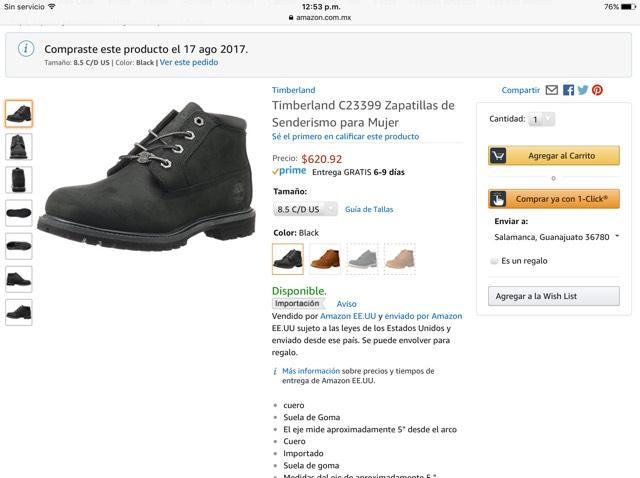 Amazon MX: botín timberland para mujer 6mx