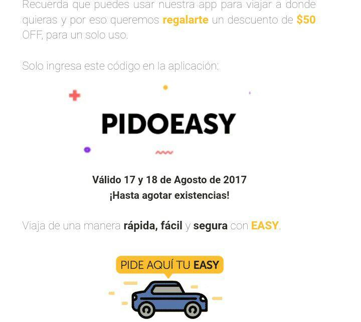 Easy Taxi: $50 de descuento para usuarios que recibieron correo
