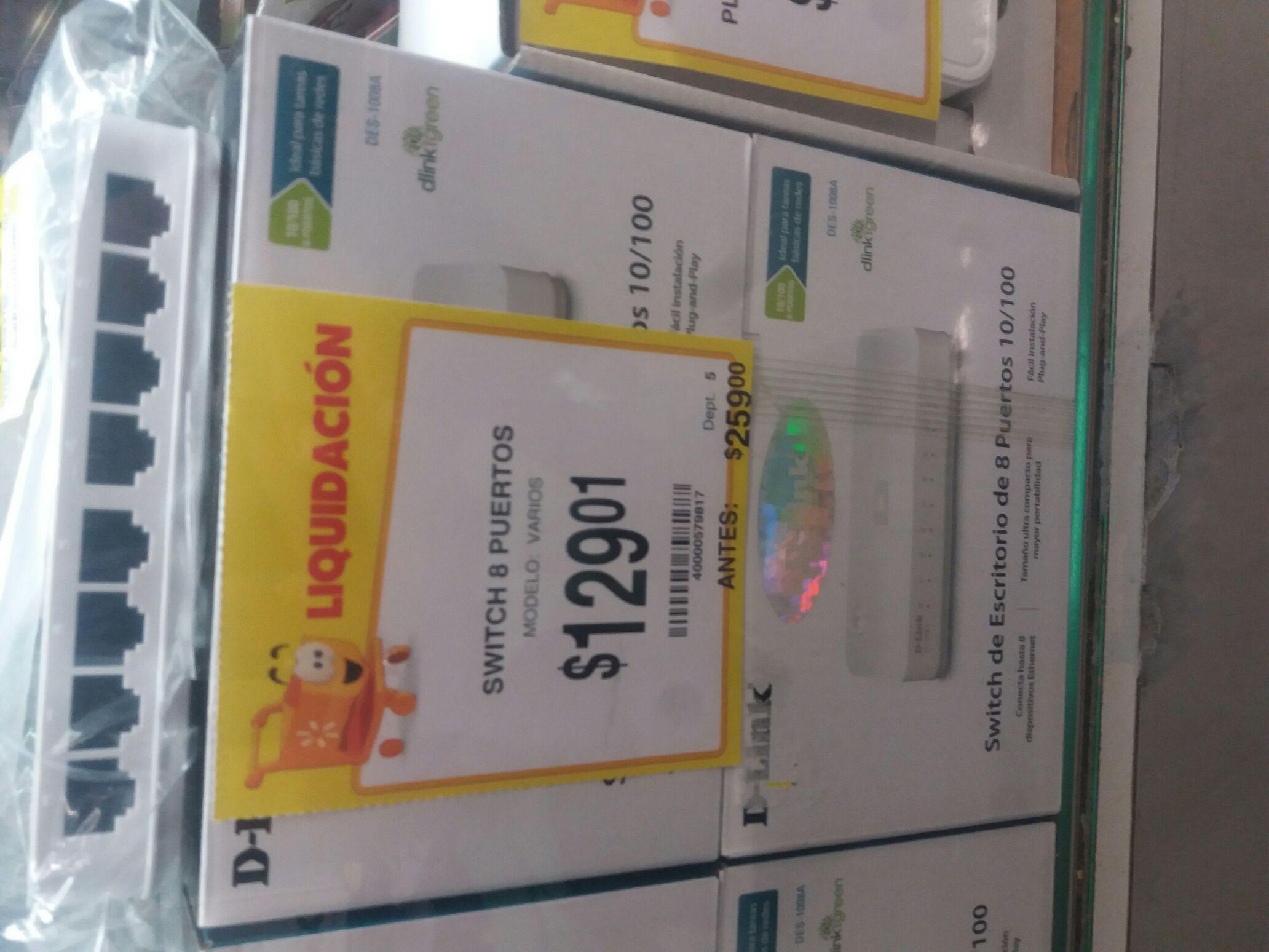 Walmart: Switch de 8 puertos D-Link