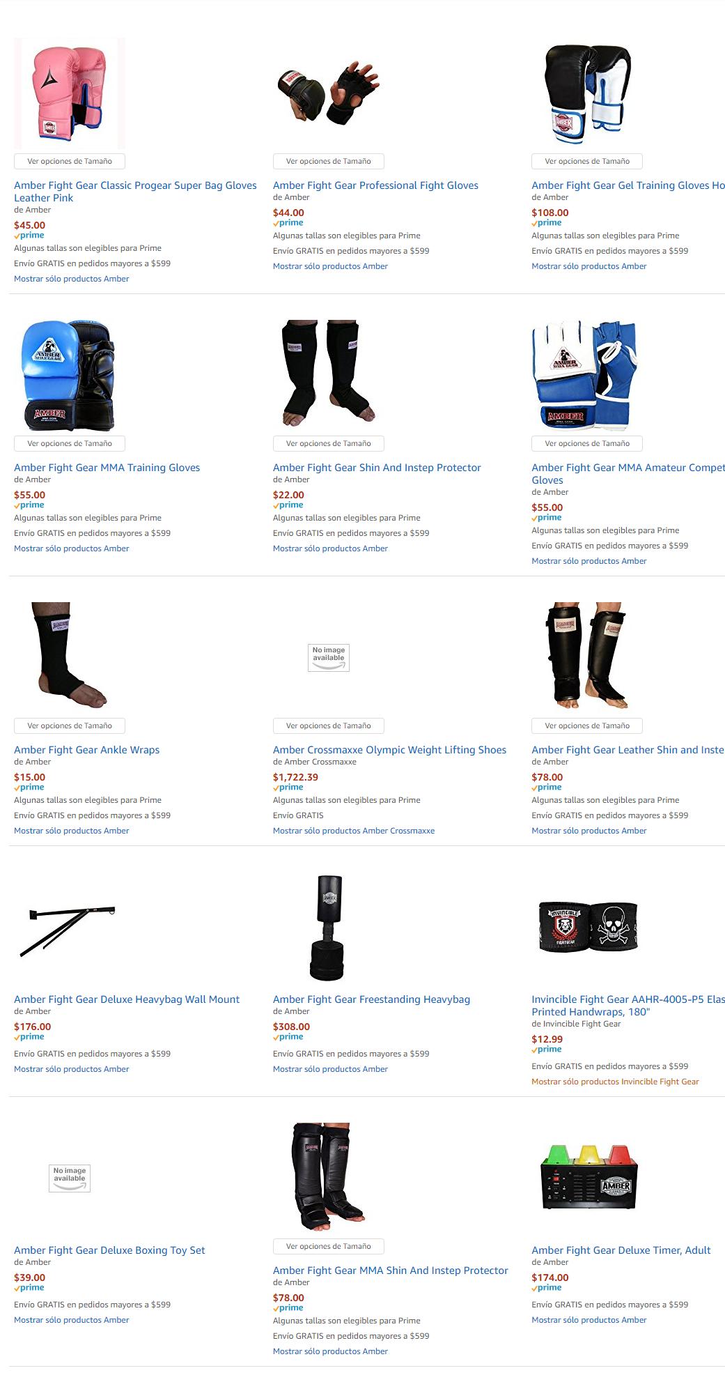 Amazon: Productos Amber precio de dolares a pesos