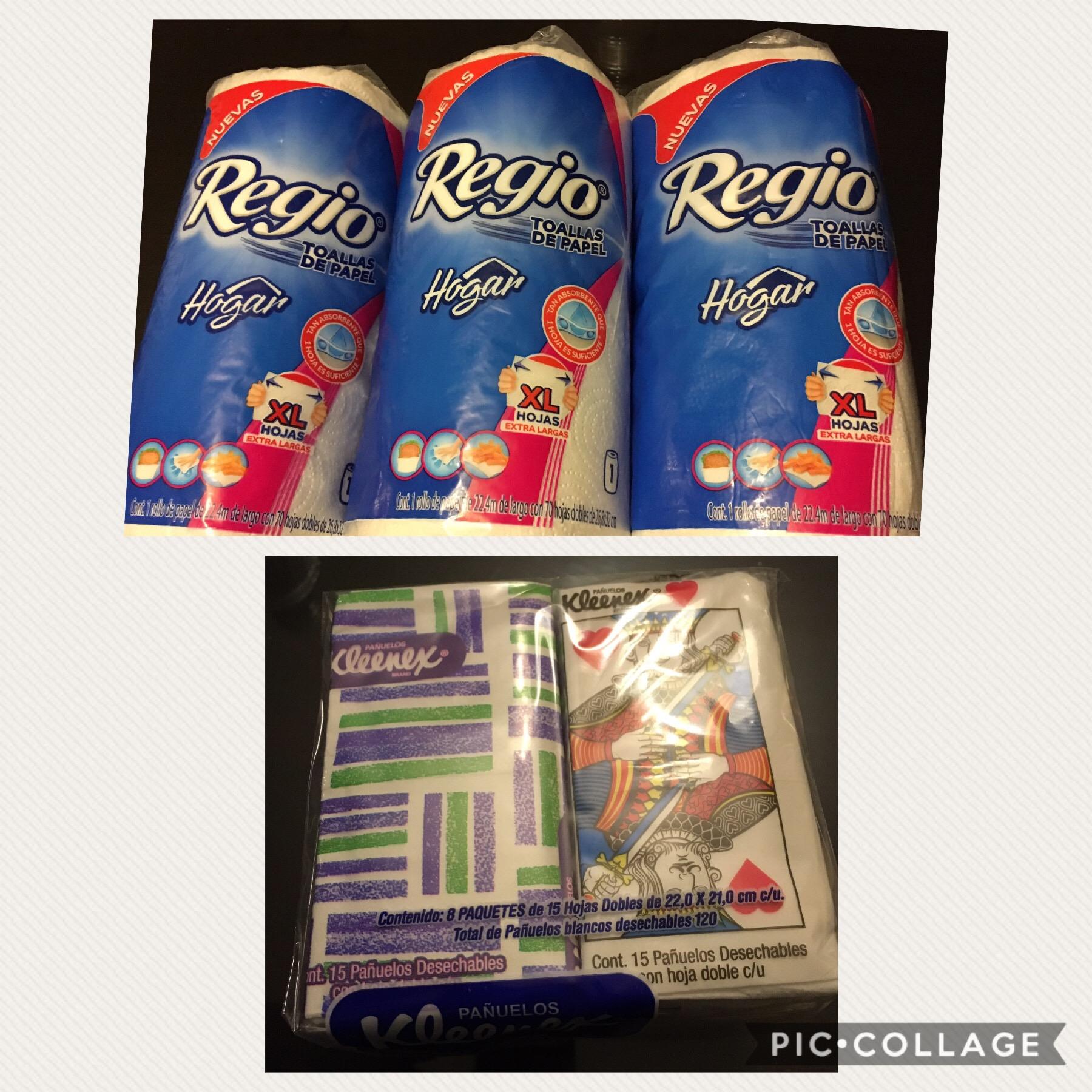 Walmart Toluca EDOMEX: servitoallas REGIO y paq. 8 Kleenex en $5.02, lata kitty $35.03