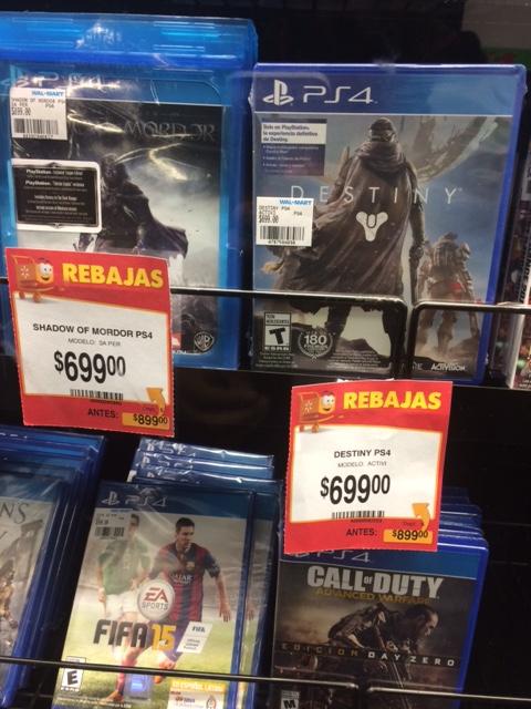 Walmart tienda física: juegos nuevos para ps4 y xbox one en 699 y MSI