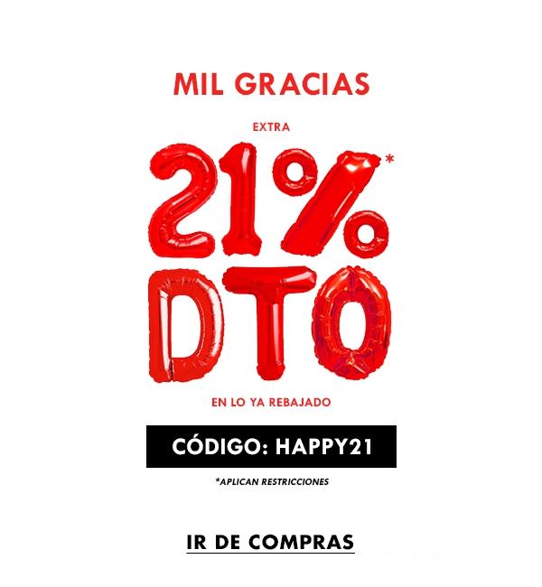 Forever21: 21% de descuento en mercancía ya rebajada, compra en linea, solo para clientes registrados