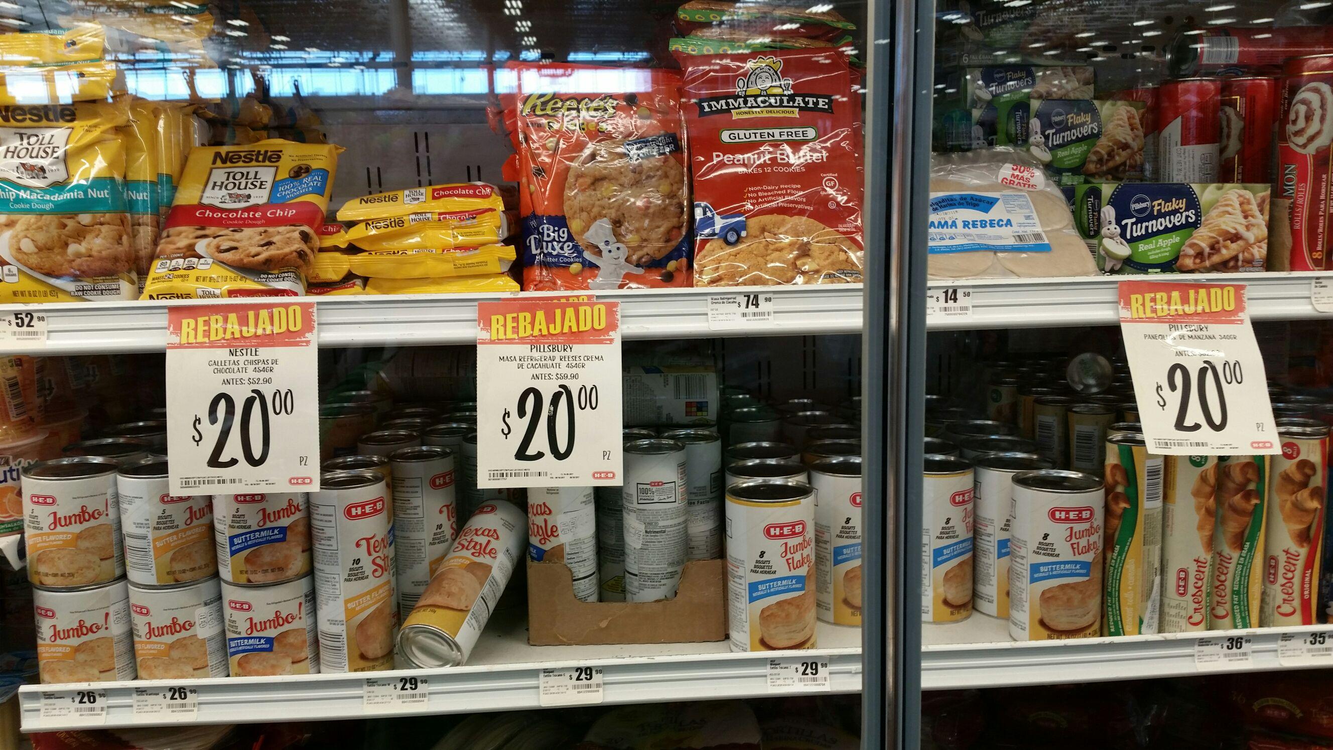 HEB: Masa para galletas y pastelillos de manzana Pillsbury y Nestlè