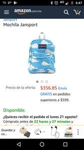 Amazon: Mochila Jansport a $356