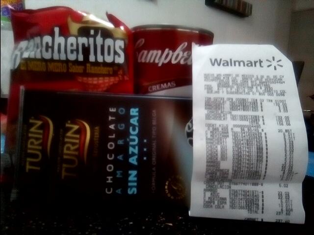 Walmart: Latota de crema de espárragos $10 pesos, chocolate Turín obscuro $22, rancheritos mini a solo $3 pesitos.