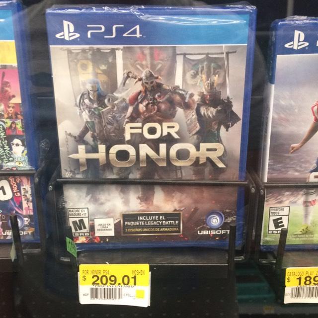 Bodega Aurrerá: For Honor para PS4 a $209.01