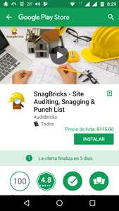 "Google Play: GRATIS   ""SnagBricks - Site Auditing, Snagging & Punch List""."