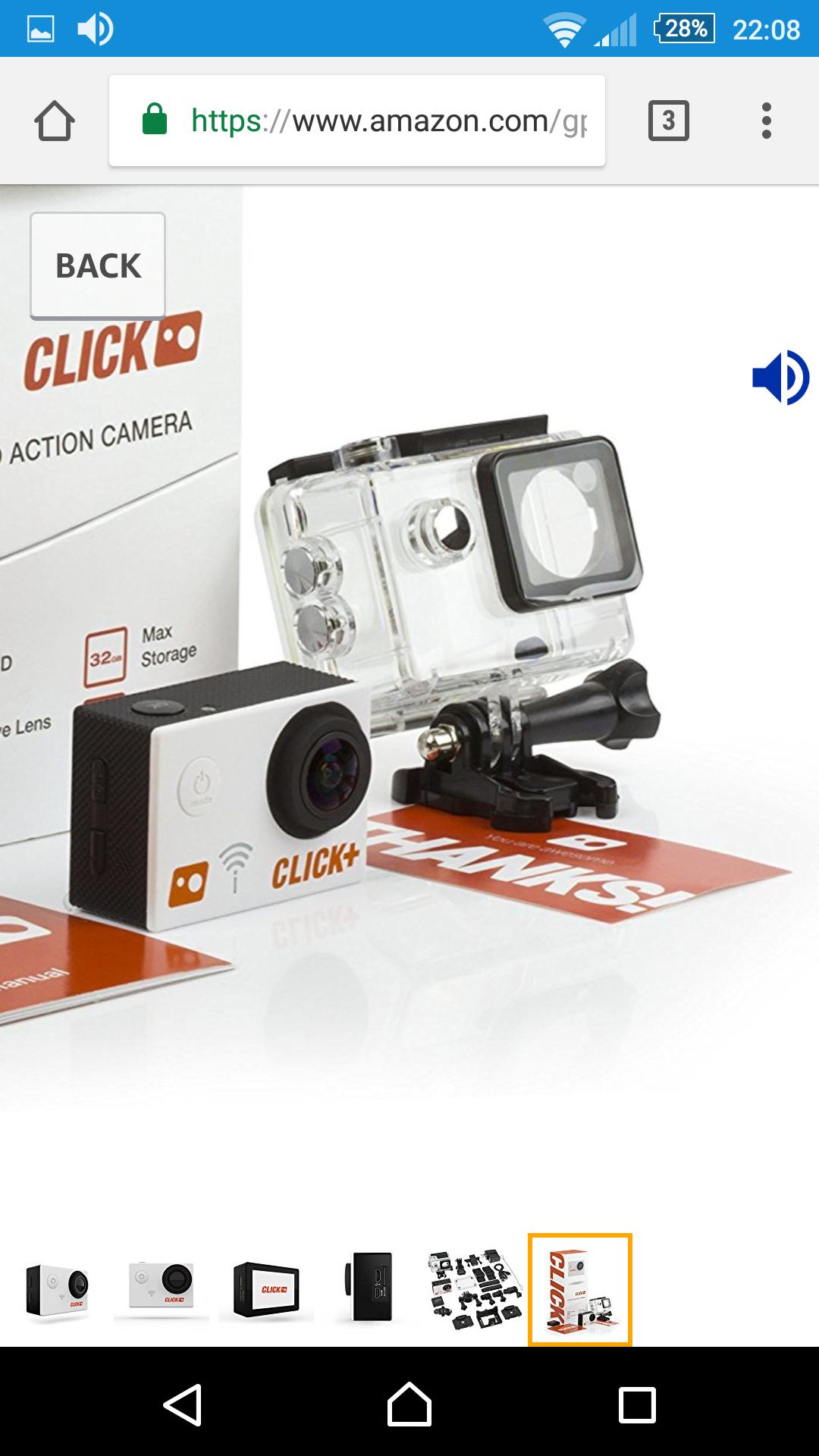 Amazon: cámara UHD ExpertPower CLICK, envío gratis Prime