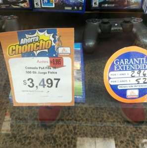 Chedraui Coatepec: PS4 + FIFA 2016 $3,497.00