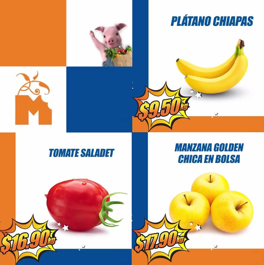 Chedraui: Martimiércoles de Frutiverduras 22 y 23 Agosto: Plátano Chiapas $9.50 kg; Jitomate Saladet $16.90 kg; Manzana Golden Chica en Bolsa $17.90 kg.