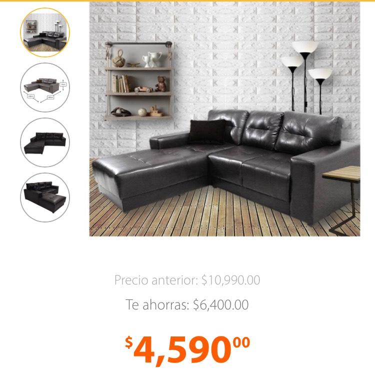 Walmart en línea: Sala de vinil Salvandy excelente precio