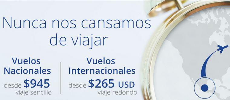Interjet: vuelos nacionales desde $945 sencillo, internacionales desde USD$265 redondo