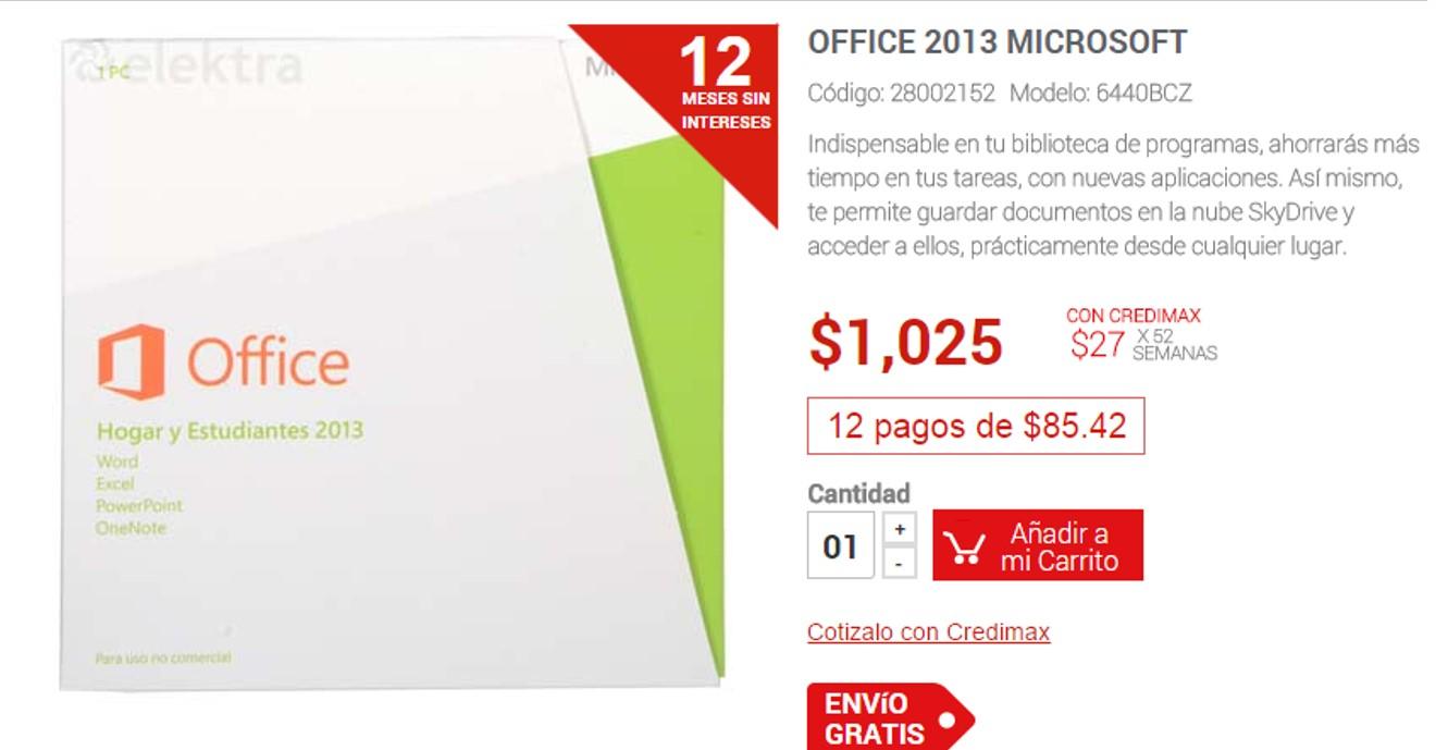 Office Hogar y Estudiantes 2013 (Compra única)