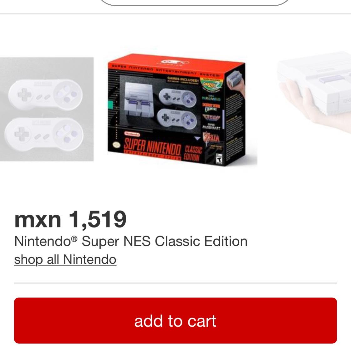 Traget: Nintendo® Super NES Classic Edition