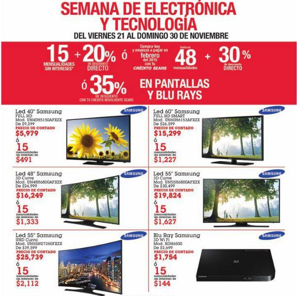 Sears: 3x2 en ropa deportiva rebajada, 35% de descuento en pantallas y más