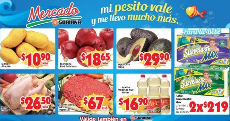 Ofertas de frutas y verduras en Soriana abril 22 y 23