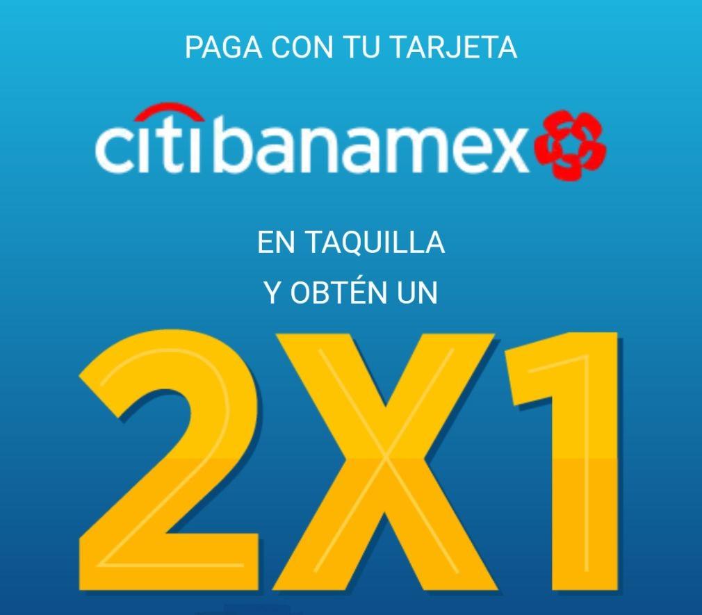Cinépolis: Paga con tu tarjeta Citibanamex en la taquilla del Cine y obtén una entrada al 2X1 de lunes a domingo