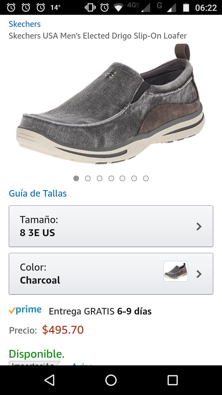 Amazon: Skechers USA Men's Elected Drigo Slip-On Loafer 7 mex