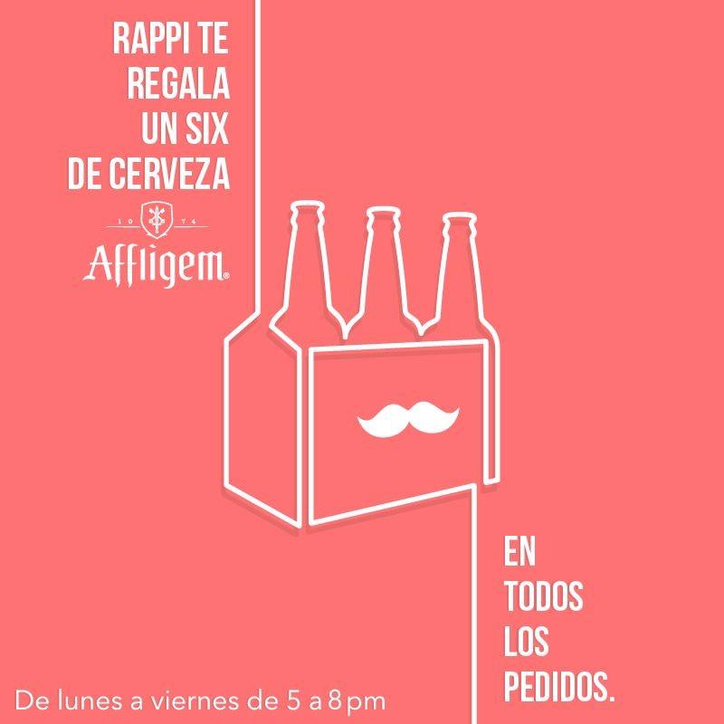 Rappi: six de cerveza Affligem GRATIS en pedidos de $100 o más  (Monterrey)