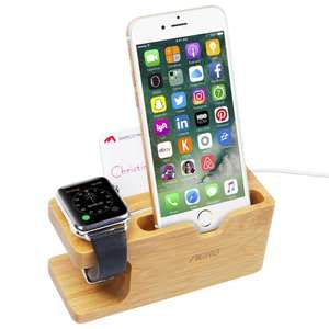 Amazon MX: Soporte Bamboo para Apple Watch y smartphone (Envío gratis PRIME)