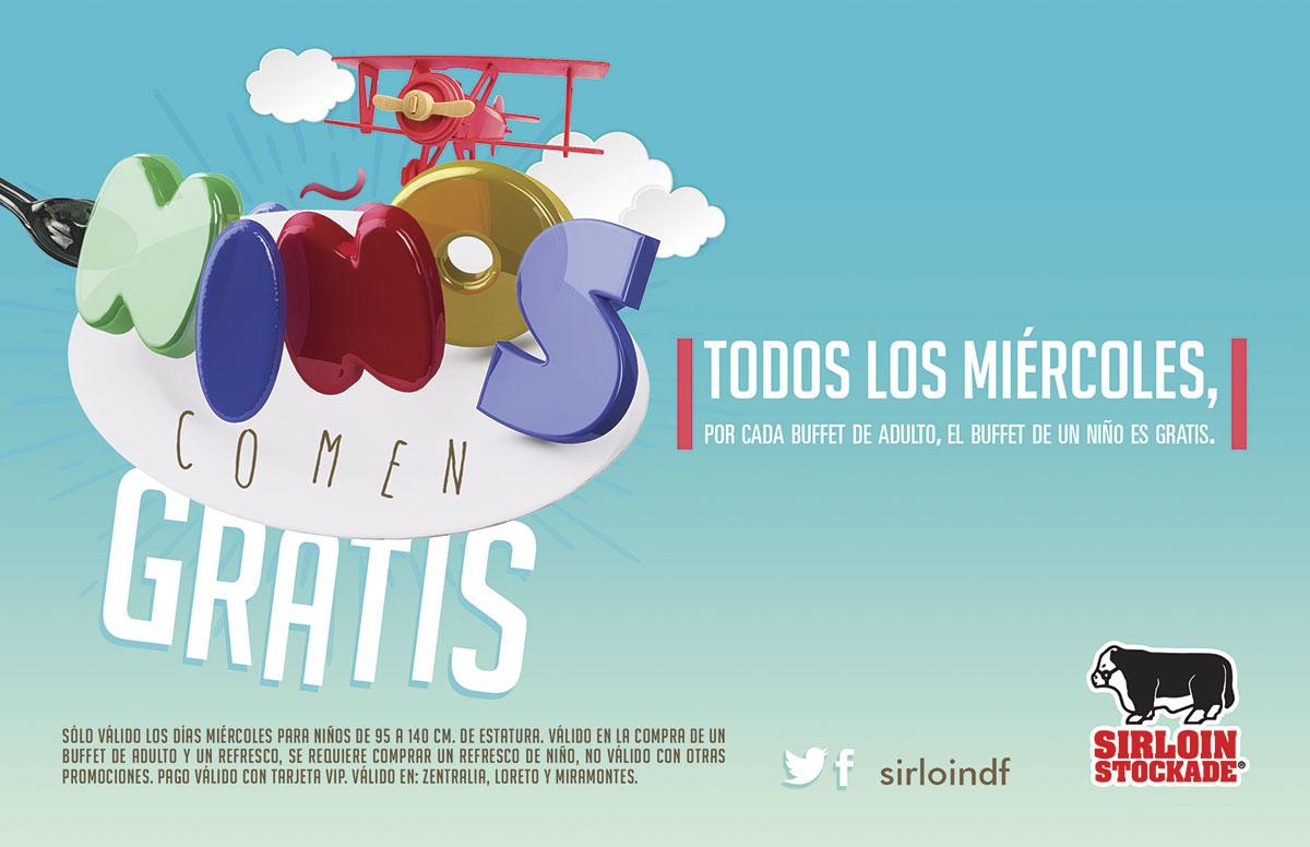 Sirloin: Niños comen gratis los míercoles (Zentralia, Loreto y Miramontes)
