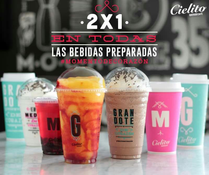 Cielito querido café: 2x1 en todas las bebidas preparadas