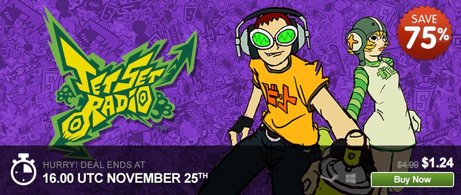 Pre Black Friday en Green Man Gaming (juegos PC, ejemplo Jet Set Radio 1 dólar)