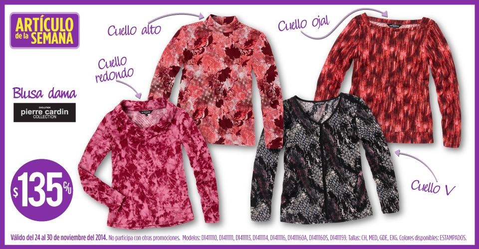 Artículo de la semana Suburbia: blusa para mujer $135