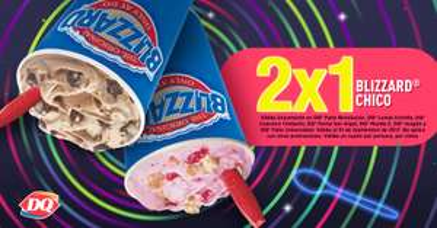 DairyQueen CDMX: Blizzard chico 2x1 (algunas sucursales)