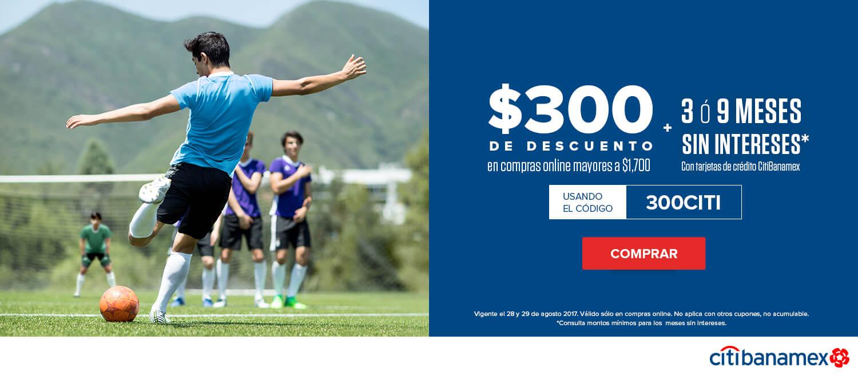 Innovasport: Cupón $300 de descuento + MSI con Citibanamex