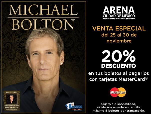 20% de descuento para concierto de Michael Bolton en el DF con MasterCard